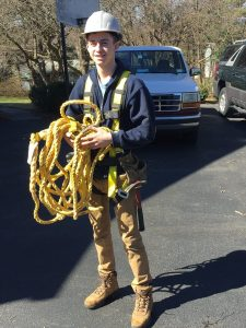 gutter cleaning fall protection