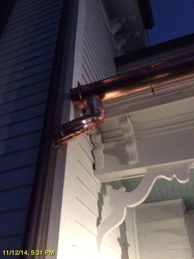 half-round copper gutters