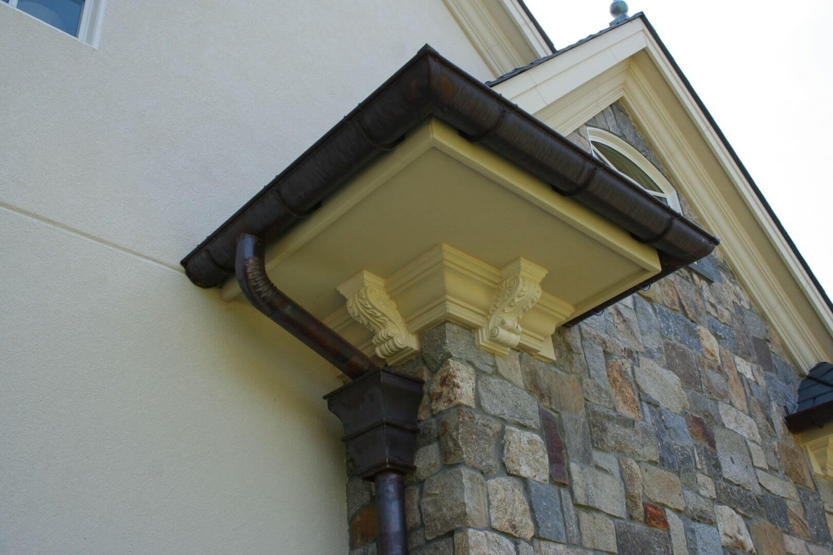 Half Round Copper Gutters Images