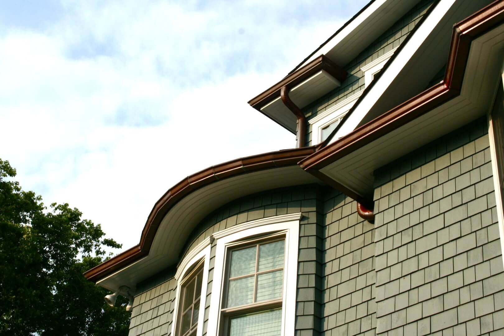 Copper Gutters Radius K Style Photo Gallery Brothers Gutters