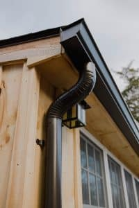 collecting rainwater from downspout
